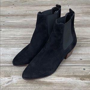 Sam Edelman Reeds Black Suede Ankle Boots. NWOT!